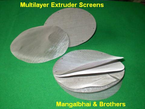 Multi Circular Mesh Screen, Extruder Screens, Perforated Metal Sheet, Filter,Wire Mesh, Dutch weave wire mesh